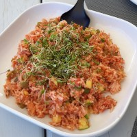 Warm Rice Salad with Homegrown Micro-Greens