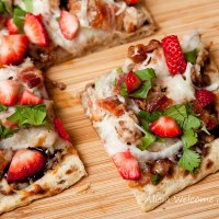 Strawberry Balsamic Pizza with Chicken & Applewood Bacon