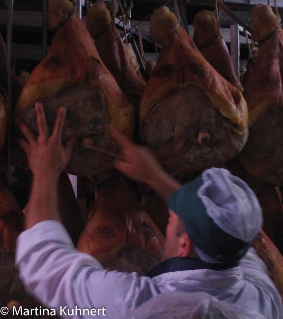culinary tour italy, parma ham