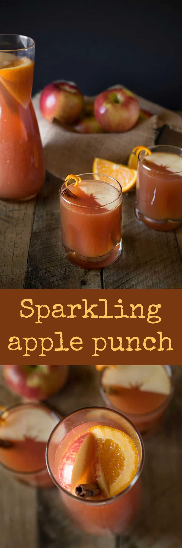 Sparkling apple punch