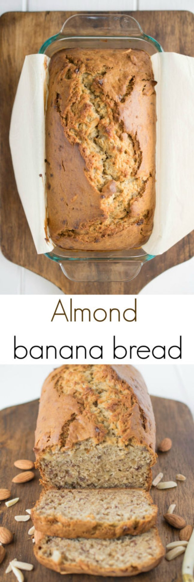 Almond banana bread. Almond banana bread. My regular recipe is taken to a moist, lighter level with the use of new Dream Ultimate Almond