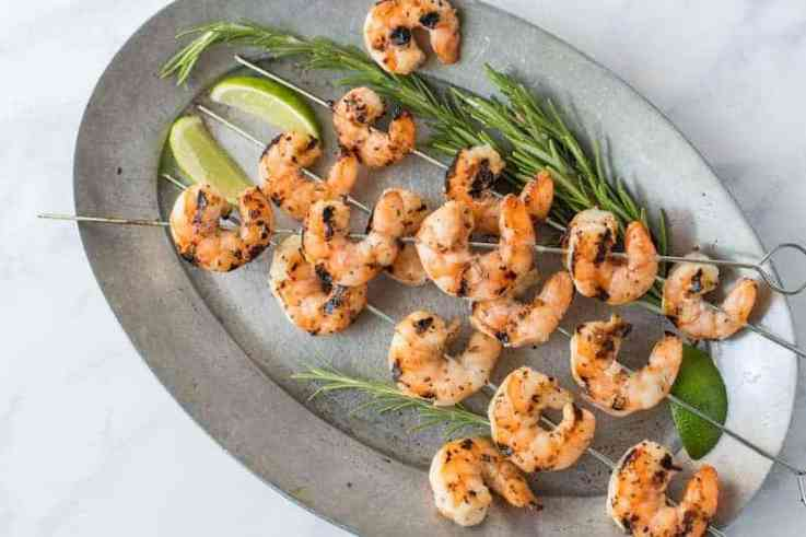 Grilled key lime shrimp is a fast and easy, meat free alternative that can be served as an appetizer or can be added as the protein to any main meal.