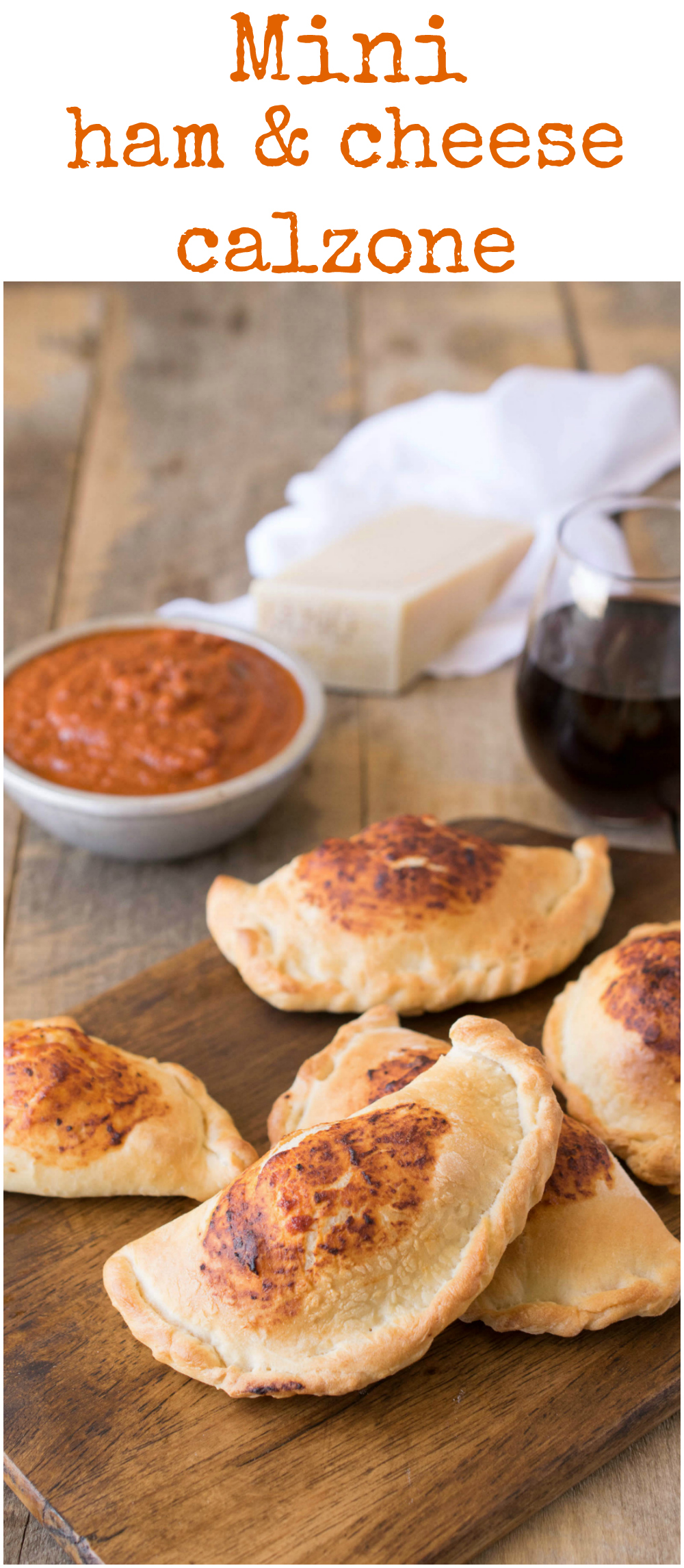 Mini ham & cheese calzones are easy to make. Homemade pizza dough filled with tomato sauce, ham and cheese. They give pizza night a whole new meaning for kids and adults.