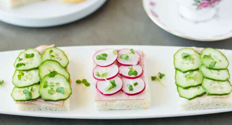 Selection of tea sandwiches
