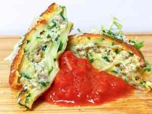 Low Carb Zucchini Fried Ravioli