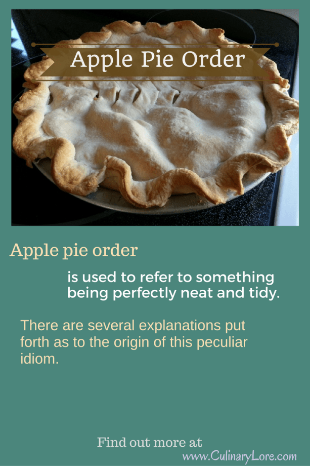 meaning of idiom apple pie order