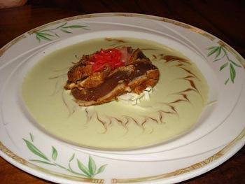 wasabi beurre blanc under seared ahi tuna