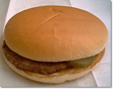 regular McDonald's Hamburger