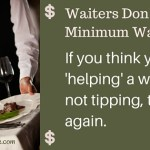 waiters don't make minimum wage myth
