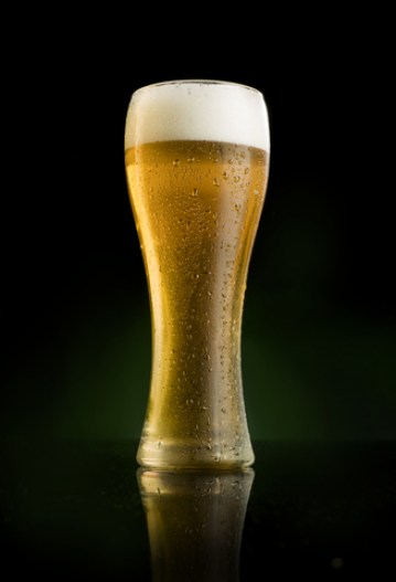 beer in frosted glass