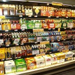 beer in store under lights