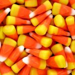 closeup for candy corn