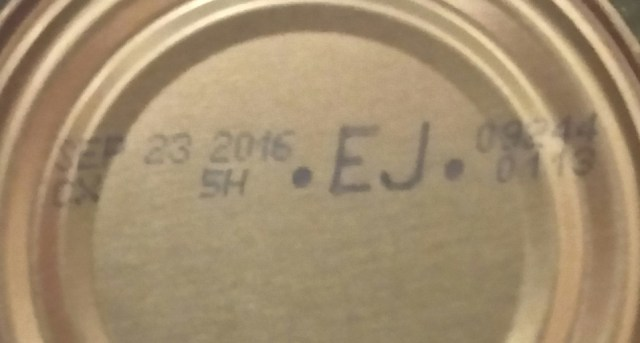 canned food expiration date