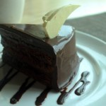 dessert of chocolate cake