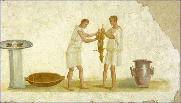 cooks preparing for a roman banquet