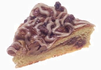 piece of apple crumb danish pastry