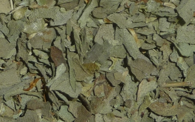 dried basil closeup