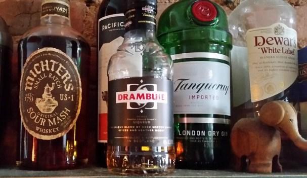 Fifth bottles of liquor