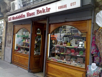 Haci Bekir store in Istanbul, home of Turkish Delight