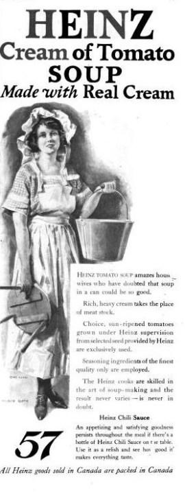 vintage Heinz cream of tomato soup ad