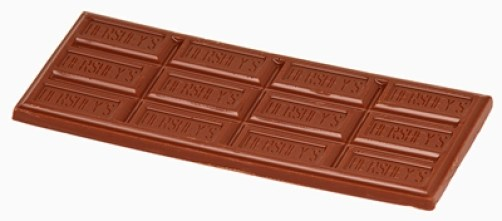 Hershey chocolate bar, isolated