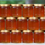 stacked jars of fresh honey