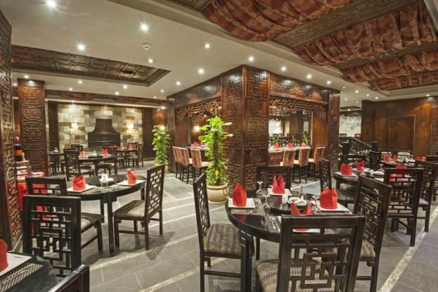 luxury hotel dining room