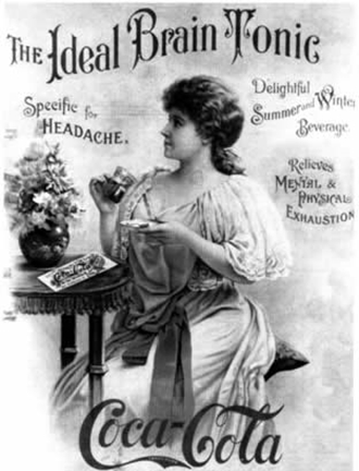 Coca-Cola ideal brain tonic advertisement, c. 1891