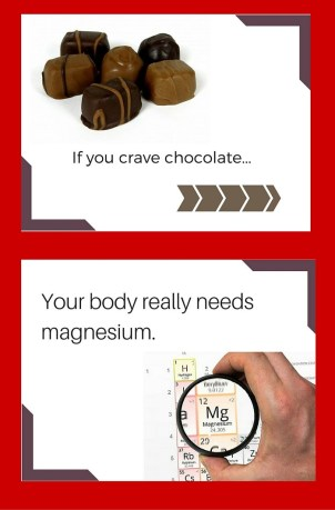 chocolate craving means you need magnesium claim
