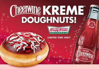 krispy kreme cheerwine doughnut advertisement
