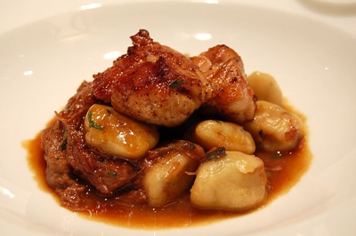 lamb sweetbreads with gnocchi