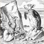 mock turtle from alice in wonderland illustration