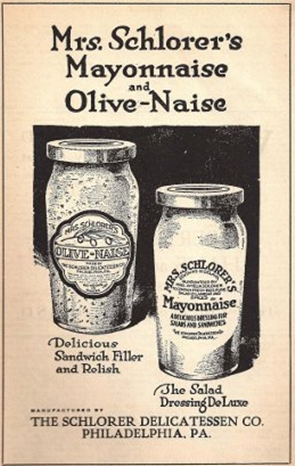 Mrs. Schlorer's Mayonnaise vintage ad