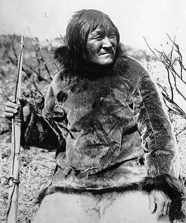 "Photograph of Nanook (Nanuk), ""White Bear"" at Port Harrison, modern day Inukjuak, by amuel Herbert Coward, c. 1920"