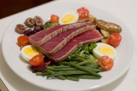 Salad Nicoise, composed salad