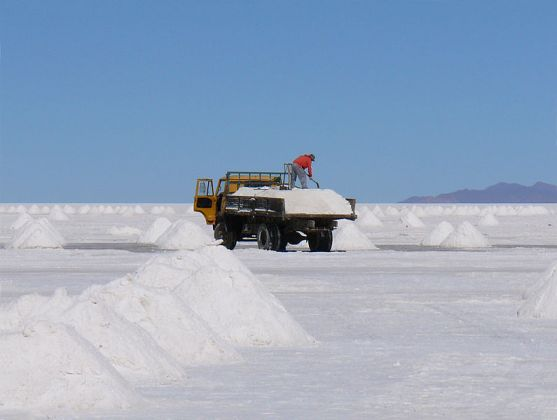 The Uyuni Salt Flats in Bolivia