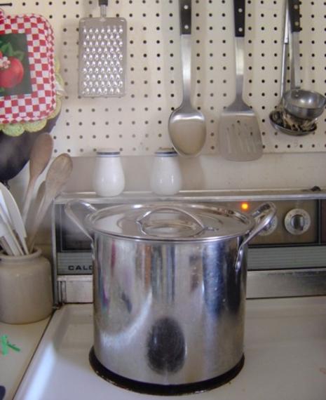 large stockpot on stove