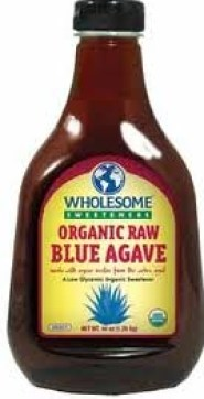 wholesome sweeteners blue agave nectar, organic raw