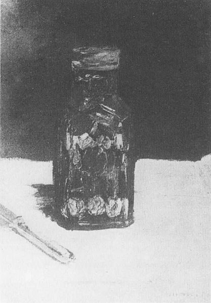 "1882 Painting by Édouard Manet, ""Bocal de Condiments"" or Jar of Condiments"