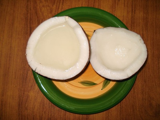 coconut water in shells