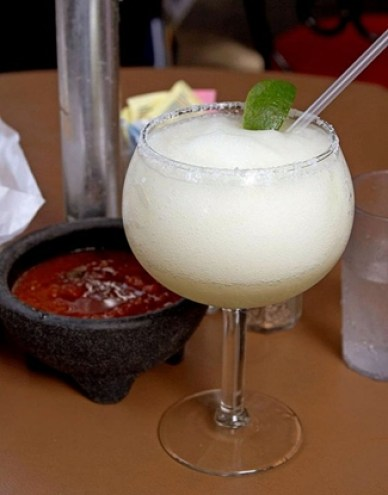 Frozen Margarita at Mexican Restaurant