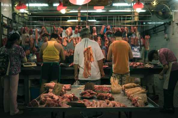 meat market, no chicken or fish