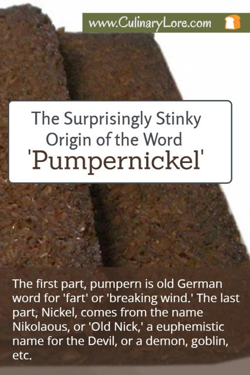 surprising origin of the word pumpernickel