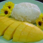 sticky rice and mango dish