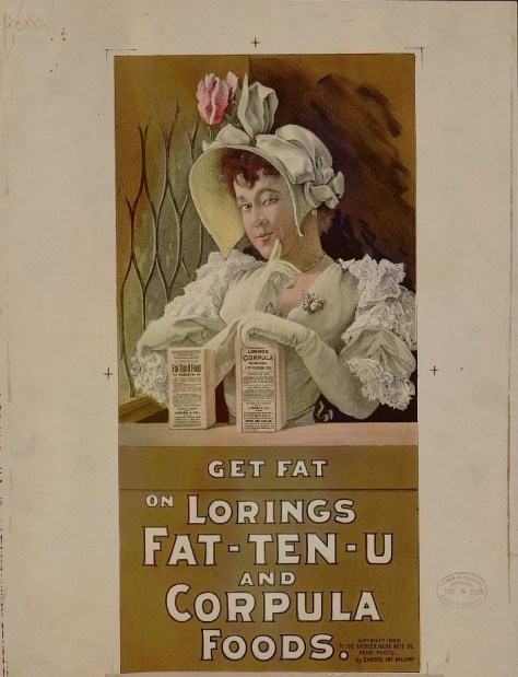 Vintage ad for Lorings Fat-Ten-U fattening food
