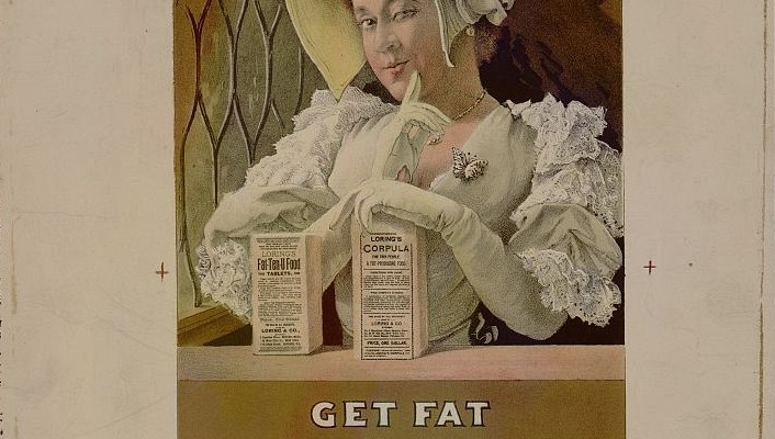 Vintage ad for Lorings Fat-Ten-U fattening food
