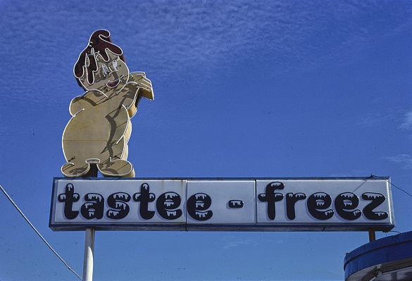 Tastee-Freez sign, 1979, North Carolina