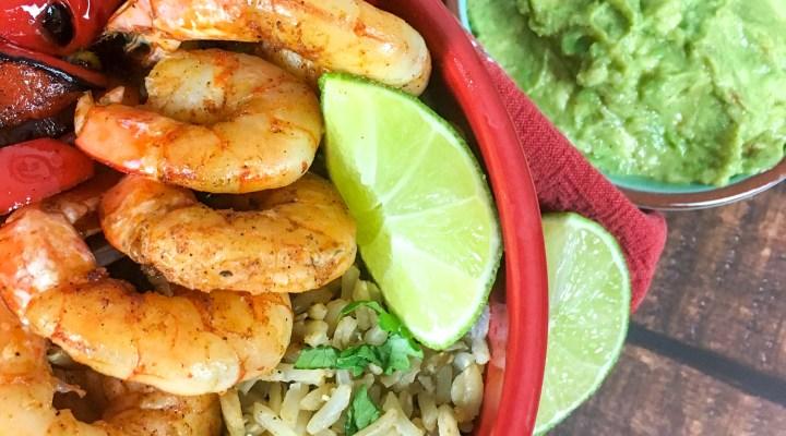 Mexican Shrimp Cilantro Rice Bowl