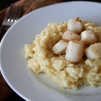 Scallops with Butternut Squash Risotto