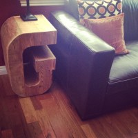 Letter G Side Table